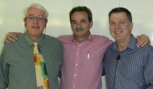"""David Lake, Armando Pintus e Steve Wells durante il corso organizzato da EFT-Italia nel novembre 2010 su """"Utilizzo delle Tecniche Provocative e di SET - Simple Energy Techniques"""""""