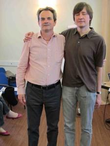 Ralph Klemp con Armando Pintus durante un corso di aggiornamento sulle tecniche più recentidi Psicologia Energetica