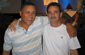 Roy Martina con Armando Pintus durante un corso sull'Equilibrio Emozionale